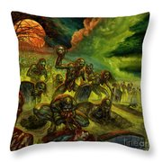 Rotten Souls Taint The Land Throw Pillow
