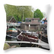Rotterdam Silence By The Docks Throw Pillow