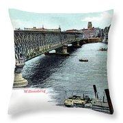 Rotterdam Oude Willemsbrug 1890 Throw Pillow