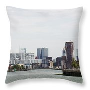 Rotterdam Skyline With Euromast  Throw Pillow