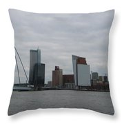 Rotterdam What A View Throw Pillow