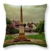 Rottingdean War Memorial And Village Common Throw Pillow