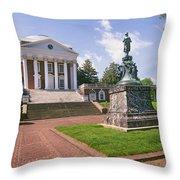 Rotunda, University Of Virginia Throw Pillow