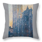 Rouen Cathedral, The Portal, Morning Throw Pillow