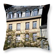 Rouen Half Timbered 22 Throw Pillow