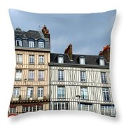 Rouen Half Timbered 24 Throw Pillow