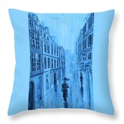 Rouen In The Rain Throw Pillow