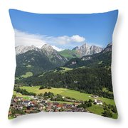 Rougemont Village In Switzerland Throw Pillow