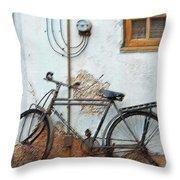 Rough Bike Throw Pillow