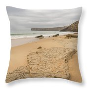 Rough But Golden At The End Of The World Throw Pillow