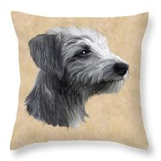 Rough Coated Lurcher  Throw Pillow