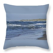 Rough Day At The Beach Throw Pillow