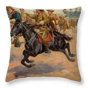 Rough Riders Cavalry Throw Pillow