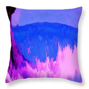Rough Seas In Dominica Throw Pillow