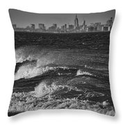 Rough Water Throw Pillow