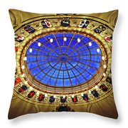 Round And Glossy Throw Pillow