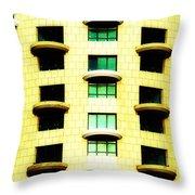 Round Balconies Throw Pillow