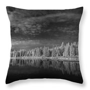 Round Lake State Park 5 Throw Pillow