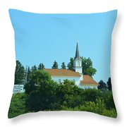 Round Prairie Lutheran Throw Pillow