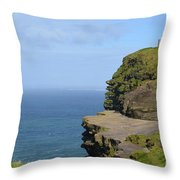 Round Stone Tower Refferred To As O'brien's Tower In Ireland Throw Pillow