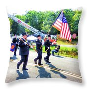 Round Top Vol. Fire Co. Inc. New York 1 Throw Pillow