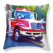 Round Top Vol. Fire Co. Inc. New York 6 Throw Pillow