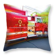 Round Top Vol. Fire Co. Inc. New York 7 Throw Pillow