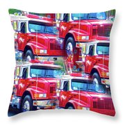 Round Top Vol. Fire Co. Inc. New York 8 Throw Pillow