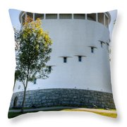 Round Water Tank Bangor Throw Pillow