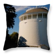Round Water Tank In The Sun Throw Pillow