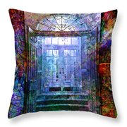Rounded Doors Throw Pillow by Barbara Berney
