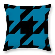 Rounded Houndstooth Black Background 02-p0123 Throw Pillow