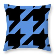 Rounded Houndstooth Black Pattern 02-p0123 Throw Pillow