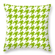 Rounded Houndstooth White Background 09-p0123 Throw Pillow