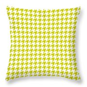 Rounded Houndstooth White Background 18-p0123 Throw Pillow