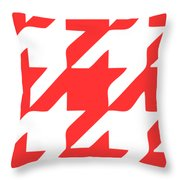 Rounded Houndstooth White Pattern 02-p0123 Throw Pillow