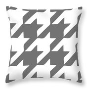 Rounded Houndstooth White Pattern 03-p0123 Throw Pillow