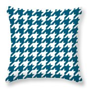Rounded Houndstooth White Pattern 09-p0123 Throw Pillow