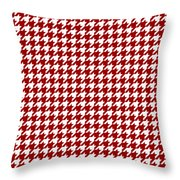 Rounded Houndstooth White Pattern 18-p0123 Throw Pillow