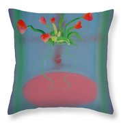 Rouseau Flowers Throw Pillow