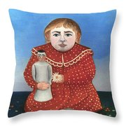 Rousseau: Child/doll, C1906 Throw Pillow