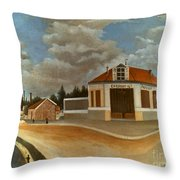 Rousseau: Factory, C1897 Throw Pillow