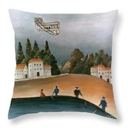 Rousseau: Fishermen, 1908 Throw Pillow