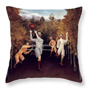 Rousseau: Football, 1908 Throw Pillow