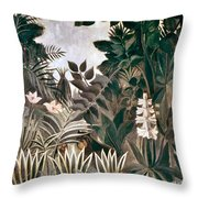 Rousseau: Jungle, 1909 Throw Pillow
