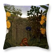 Rousseau: Lion Throw Pillow