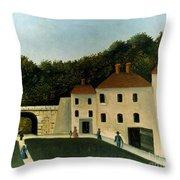 Rousseau:promenaders,c1907 Throw Pillow