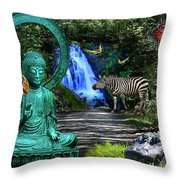 Rousseau's Garden Throw Pillow