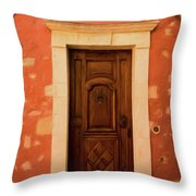 Roussillon Red And Door Throw Pillow