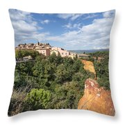 Roussilon Provence  Throw Pillow by Juergen Held